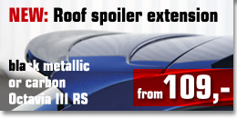 Roof spoiler extension Octavia III RS