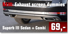 Exhaust screen Superb III