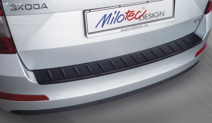 Milotec - Ladekantenschutz passend für Octavia III Combi - Facelift, ABS schwarz Klavierlack
