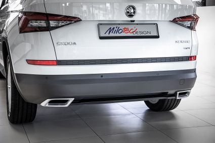 Milotec - exhaust screen dummiesXL, for Kodiaq - Alu-Brush-Design