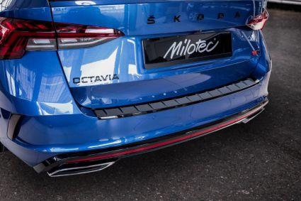 Milotec - Ladekantenschutz passend für Octavia IV RS Combi, ABS schwarz Klavierlack