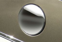 Milotec - Emblem cover, front, Stainless steel without Logo