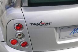 Aufkleber DRAGON, schwarz