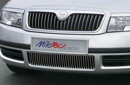 Milotec - Designblenden für Stoßfänger, passend für Superb I Facelift