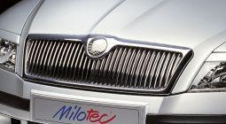 Milotec - Design-Blenden für Original-Frontgrill, passend für Octavia II