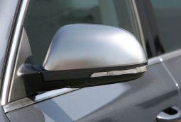 Milotec - Spiegelkappen, Edelstahl, matt, passend für Superb II
