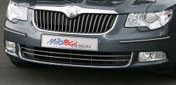Milotec - Edelstahl Dekoleisten für Stoßfänger, passend für Octavia II Facelift