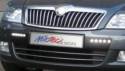 Milotec - Design-Blenden für Original-Frontgrill, passend für Octavia II Facelift