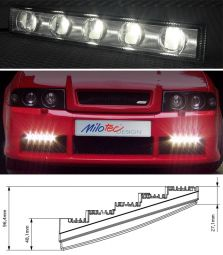 LED-day-driving lights, clear (Universal)