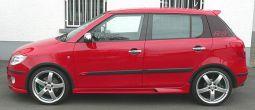 Milotec - Dekorset für C-Säule mit RS-Logo, passend für Fabia II Limousine
