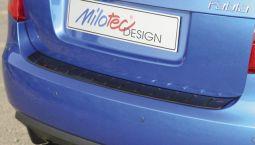 Milotec -  Ladekantenschutz, passend für Fabia II Limousine, schwarz-Klavierlack