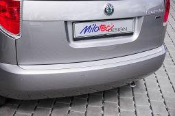 Milotec - Ladekantenschutz ohne Rippen, passend für Roomster, Silber
