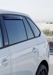 Windabweiser-Set für hintere Seitenfenster, passend für Rapid