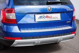 Milotec - Ladekantenschutz passend für Octavia III Scout Combi, ABS silber