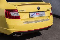 Milotec - Ladekantenschutz passend für Octavia III RS Limousine, ABS silber