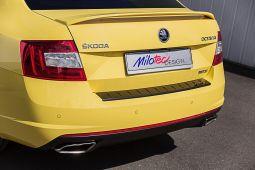 Milotec - Ladekantenschutz passend für Octavia III RS Limousine, ABS schwarz Klavierlack