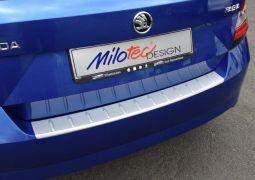 Milotec - Ladekantenschutz, passend für Fabia III Lim. - ABS silber