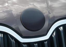 Milotec - Emblem-Abdeckung, vorne oder hinten, ABS schwarz metallic