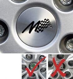Milotec - Aluminium Radnaben-Abdeckung mit M-Logo (gerade)