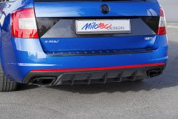 Milotec - Diffusor - Raster schwarz matt, passend für Octavia III RS