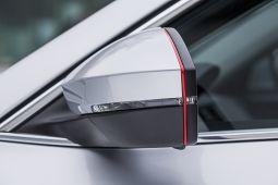 Milotec - Spiegel-Design-Streifen, rot
