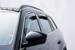 Draft deflector set for front side windows, for Kodiaq