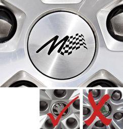 Milotec - Aluminium Radnaben-Abdeckung mit M-Logo (gewölbt)