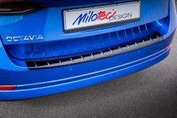 Milotec - Ladekantenschutz passend für Octavia IV Combi, ABS schwarz Klavierlack
