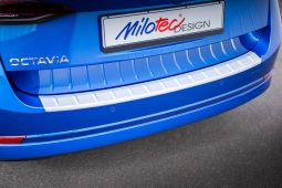 Milotec - Ladekantenschutz passend für Octavia IV Combi, ABS silber