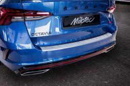 Milotec - Ladekantenschutz passend für Octavia IV Combi + RS Combi, ABS silber