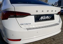 Milotec - Ladekantenschutz passend für Octavia IV Limousine + RS Limousine, ABS silber